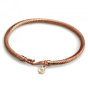 Blushed Twisted Bangle (XS) / 玫瑰金蛇紋手環