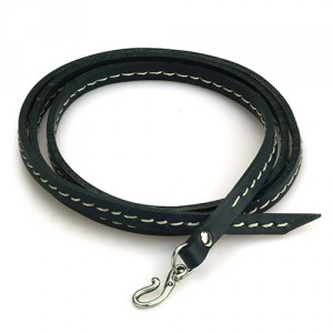 OHM WHIP BRACELET (NAVY) /  繞手皮繩